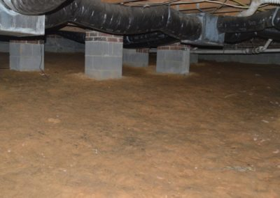 Crawlspace Support Pillars - Before