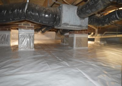 Crawlspace Pillars & Ventilation - After